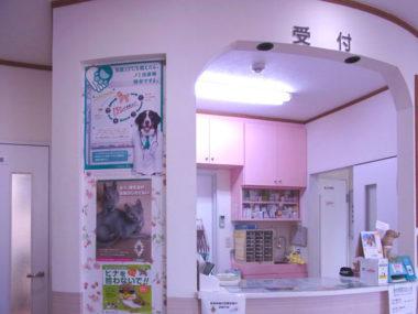 不二動物病院の受付の様子